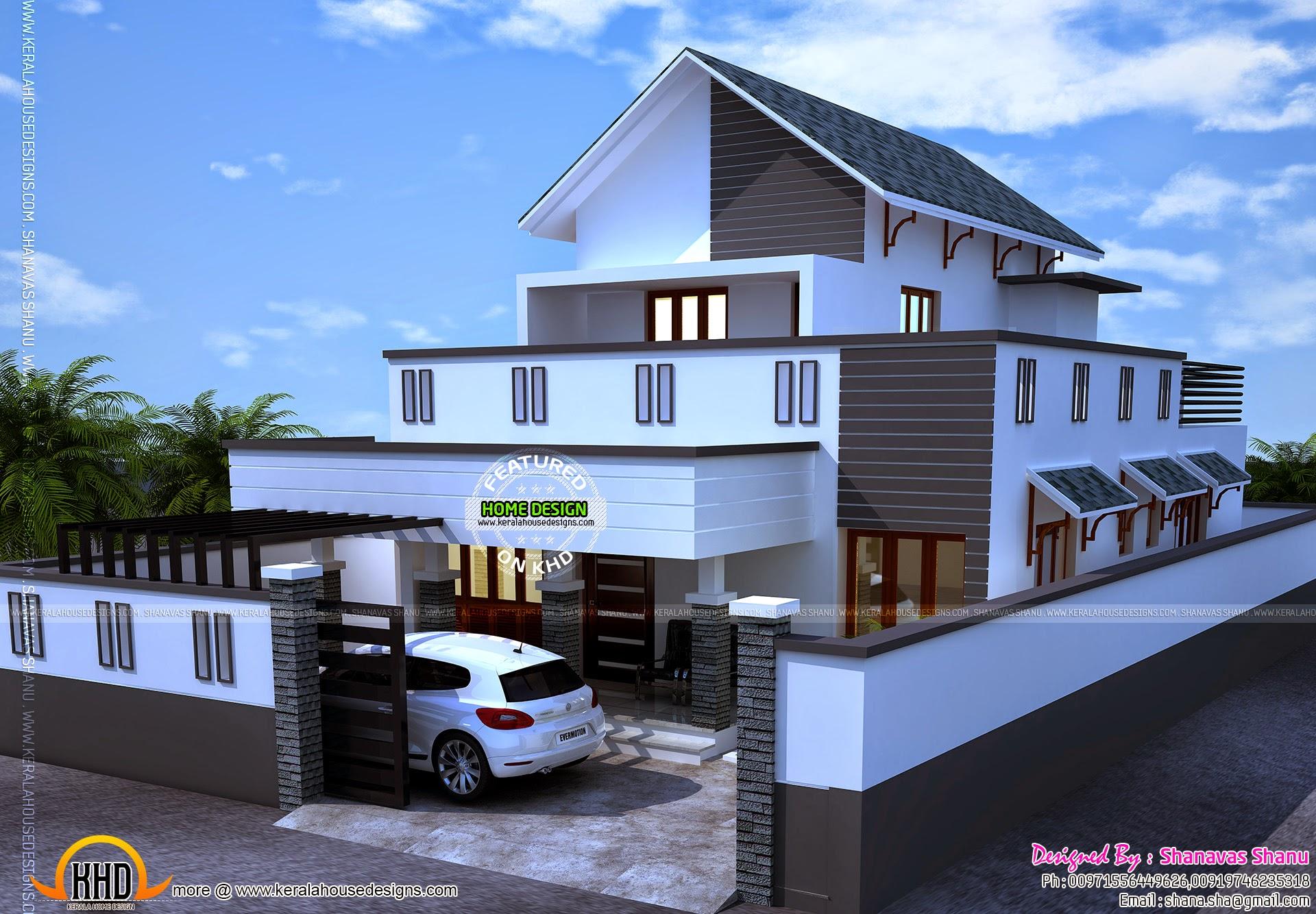 September Kerala Home Design Floor Plans Sq Feet Flat