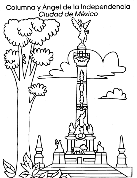 COLOREA TUS DIBUJOS: Columna y ángel de la independencia, Ciudad de ...