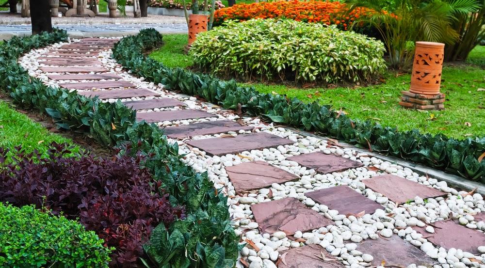 mesma não pode fazer sua pedra para compor seu caminho no jardim