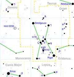 Cosntelação de Orion