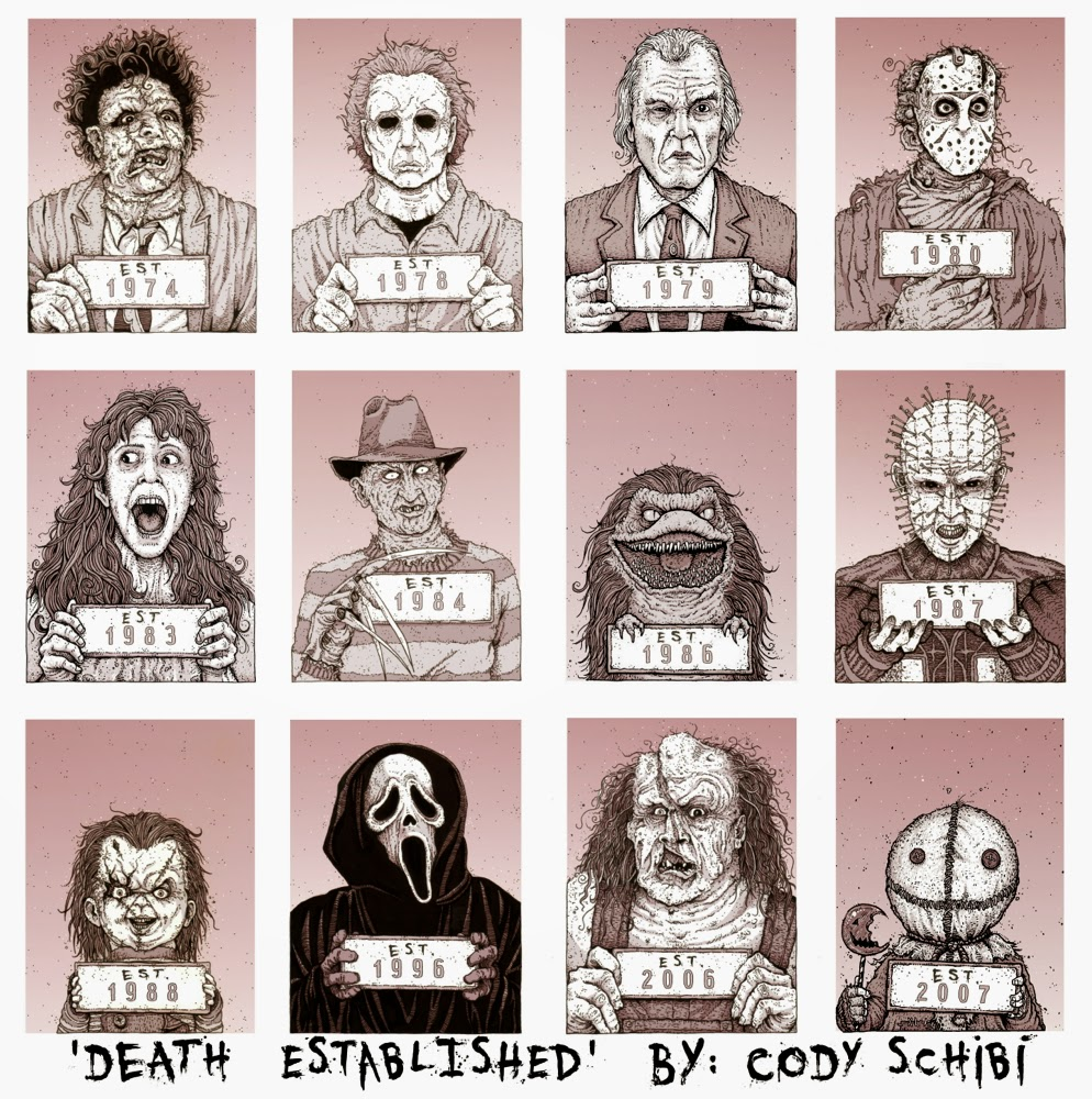 Drawing A Blank The Art Of Cody Schibi Icons Horror Haunted