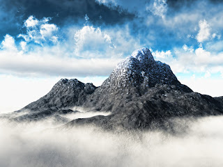 Mountain and Fogs wallpaper