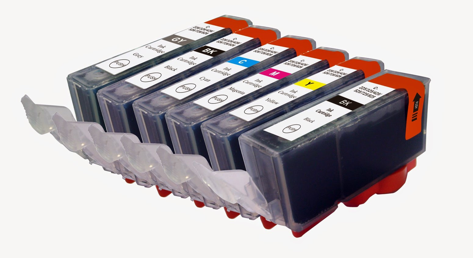 six cartridges photo ink