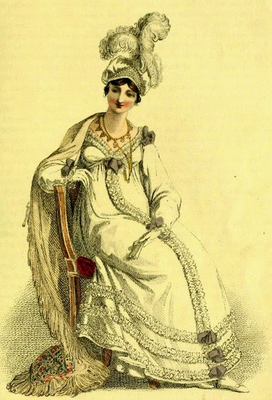 Evening dress from Ackermann's Repository (March 1817)