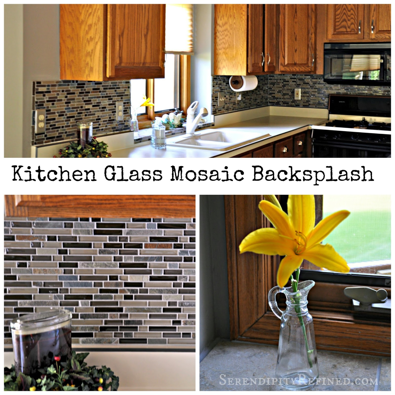 serendipity refined blog diy updates glass mosaic tile kitchen