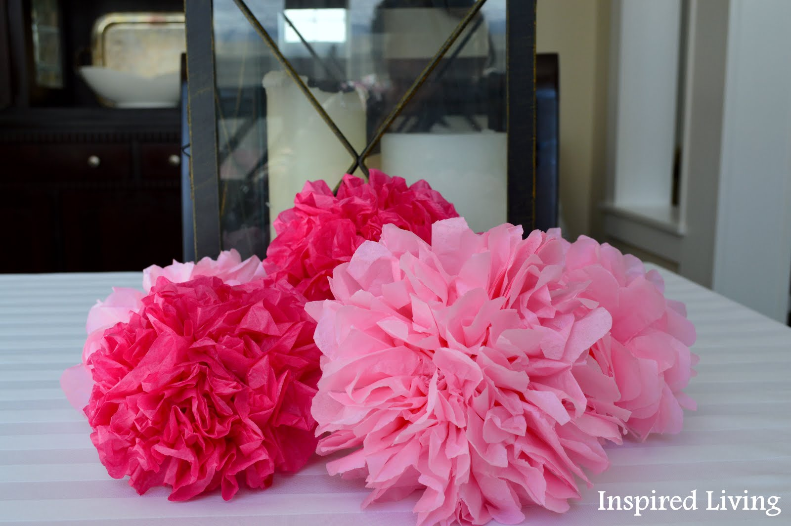 Inspired Living Tissue Paper Flower Tutorial