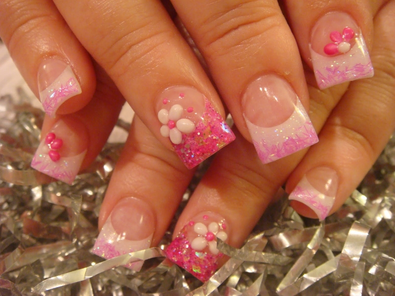 cute acrylic nail designs - photo #25