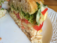 Grilled Pesto and Artichoke Chicken Sub