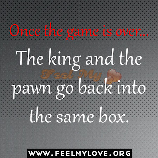 Once the game is over... the king and the pawn go back into the same box.
