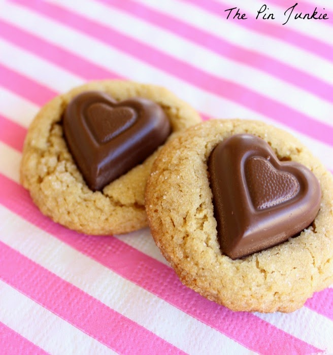 chocolate peanut butter valentine cookies
