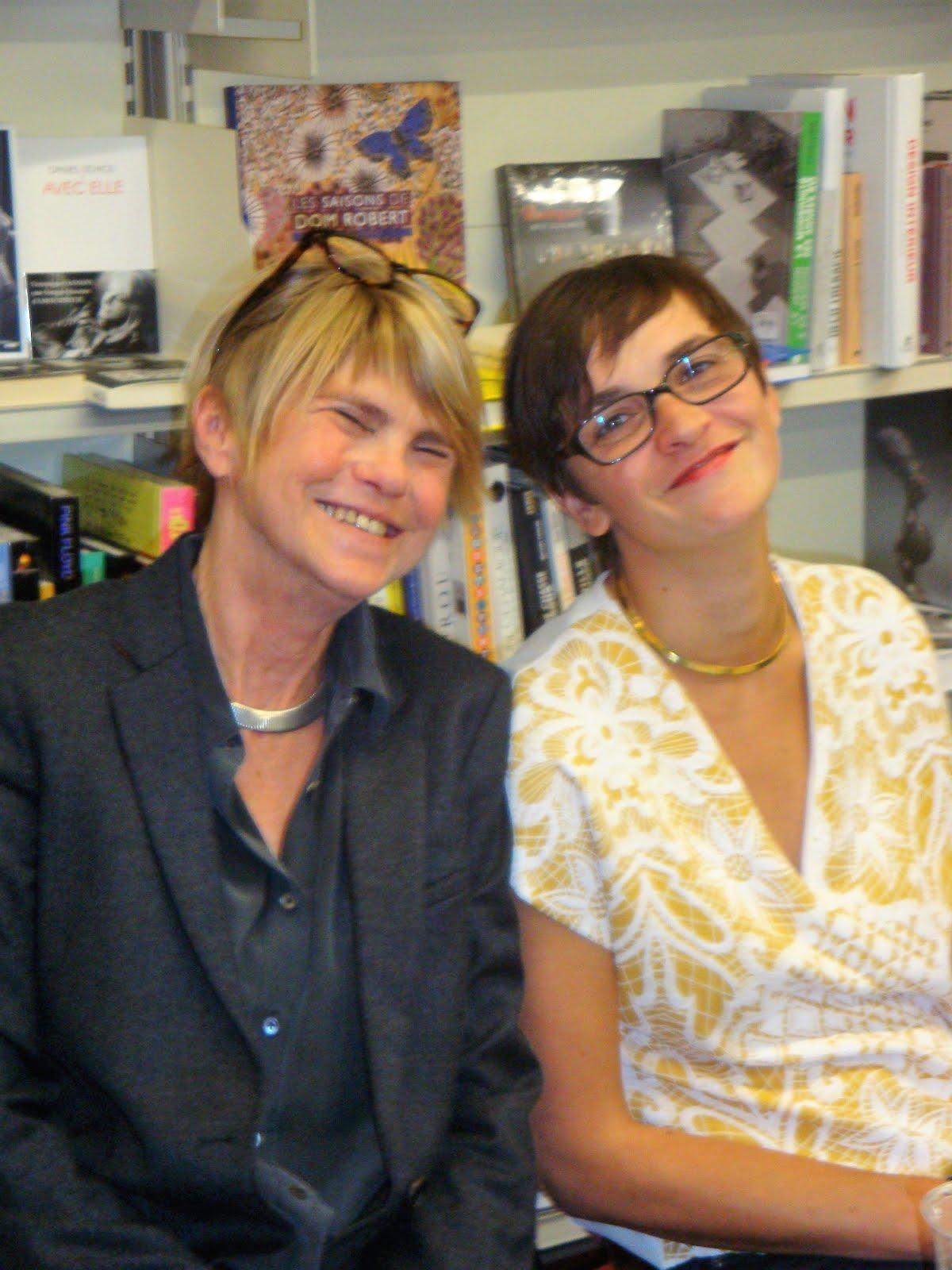 Clarence Boulay (à droite) et Sabine Wespieder, son éditrice
