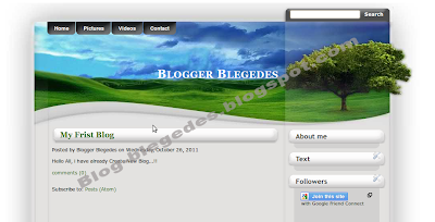 template in Blogspot