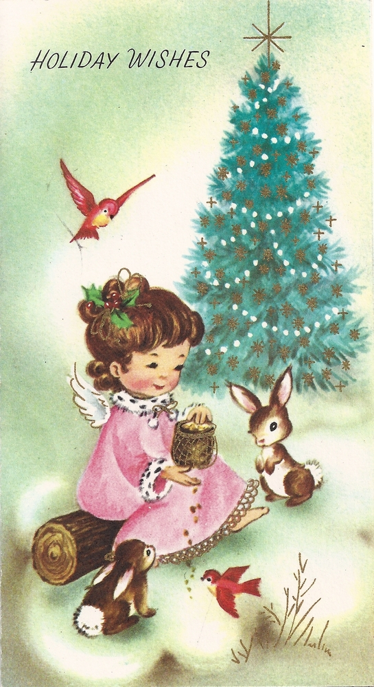 ... : Free Vintage Christmas Card Clip Art Holiday Wishes Merry Christmas