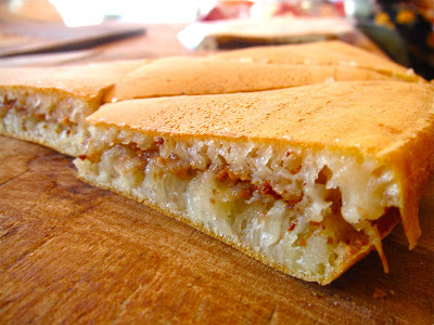 Appam Balik, Malaysian cuisine, dessert, peanuts, creamed corn, pancake