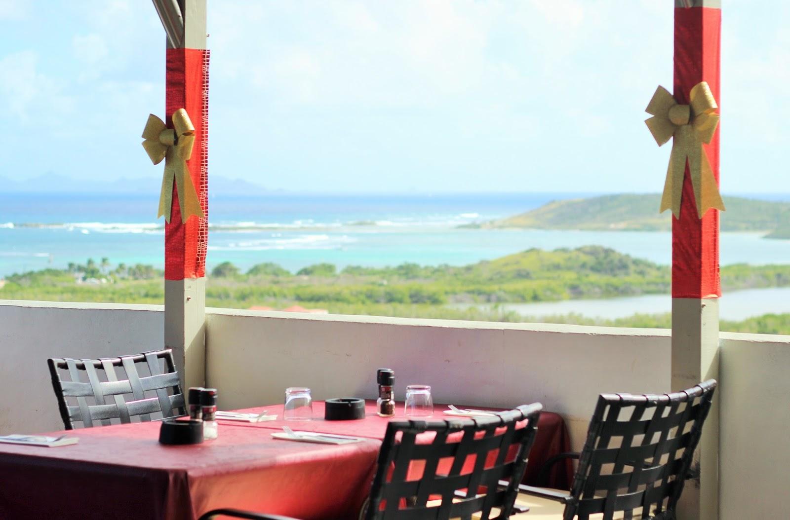 The Paradise View Restaurant in Sint Maarten