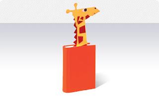 Marca páginas de girafa em E.V.A - Passo a passo