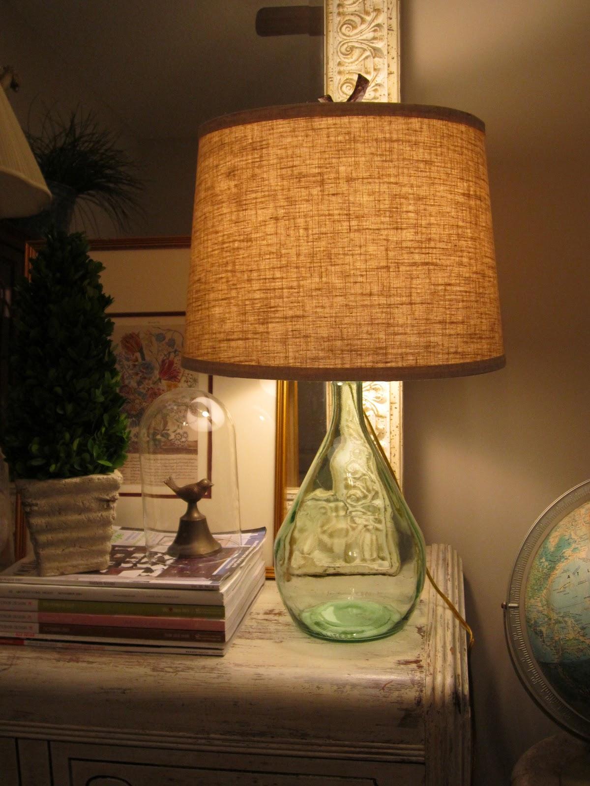 vintage finds diy bottle lamp. Black Bedroom Furniture Sets. Home Design Ideas