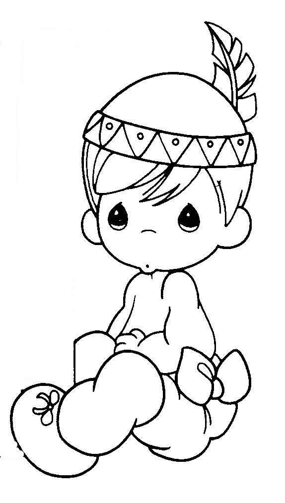 Native American Precious Moments Coloring Pages