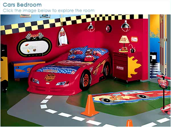 Good 4 time pass kids room furniture for Disney cars bedroom ideas