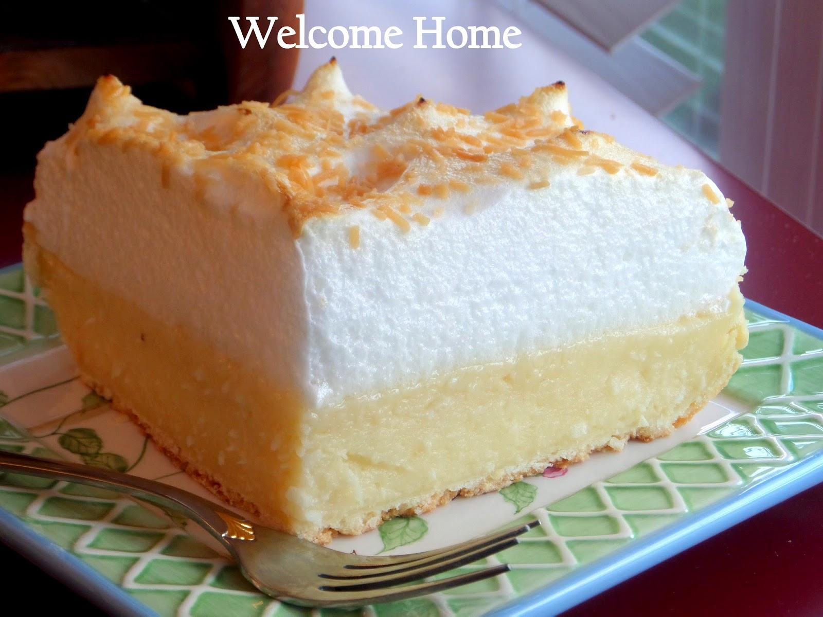 Coconut Custard Meringue Pie