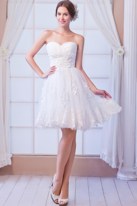 Short Beach Dresses White