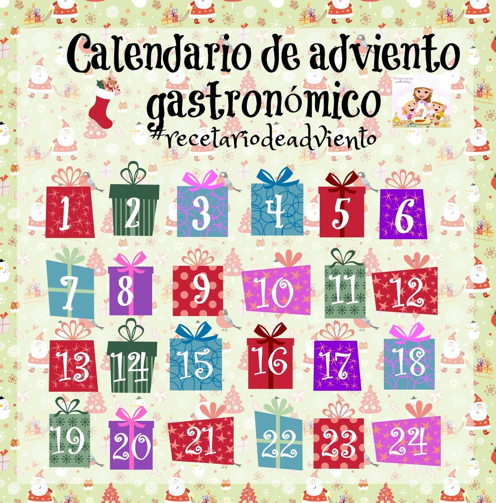 Participo en este estupendo Calendario de Adviento