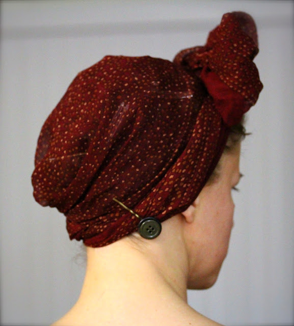 How to Tie a Vintage Style Head Scarf Bow ~ ChatterBlossom