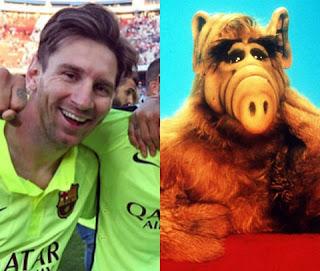 Um dos mais novos integrantes dessa nova área é o atacante argentino Lionel Messi. O craque do Barcelona adotou um novo penteado e ficou a cara do Alf, o Eteimoso, não é mesmo?