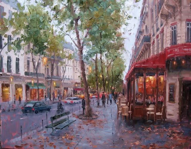 Eugene Paprocki 1971 ~ pittore americano | La città impressionista