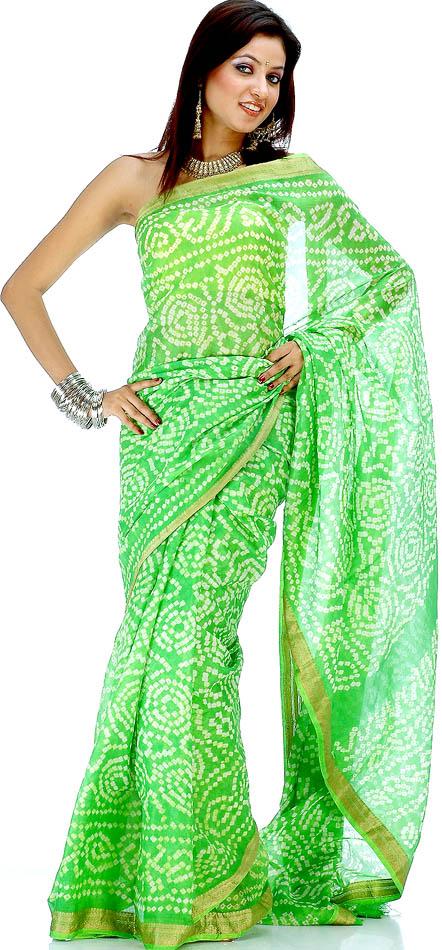 Designer Tie Dye Bandhini Saree