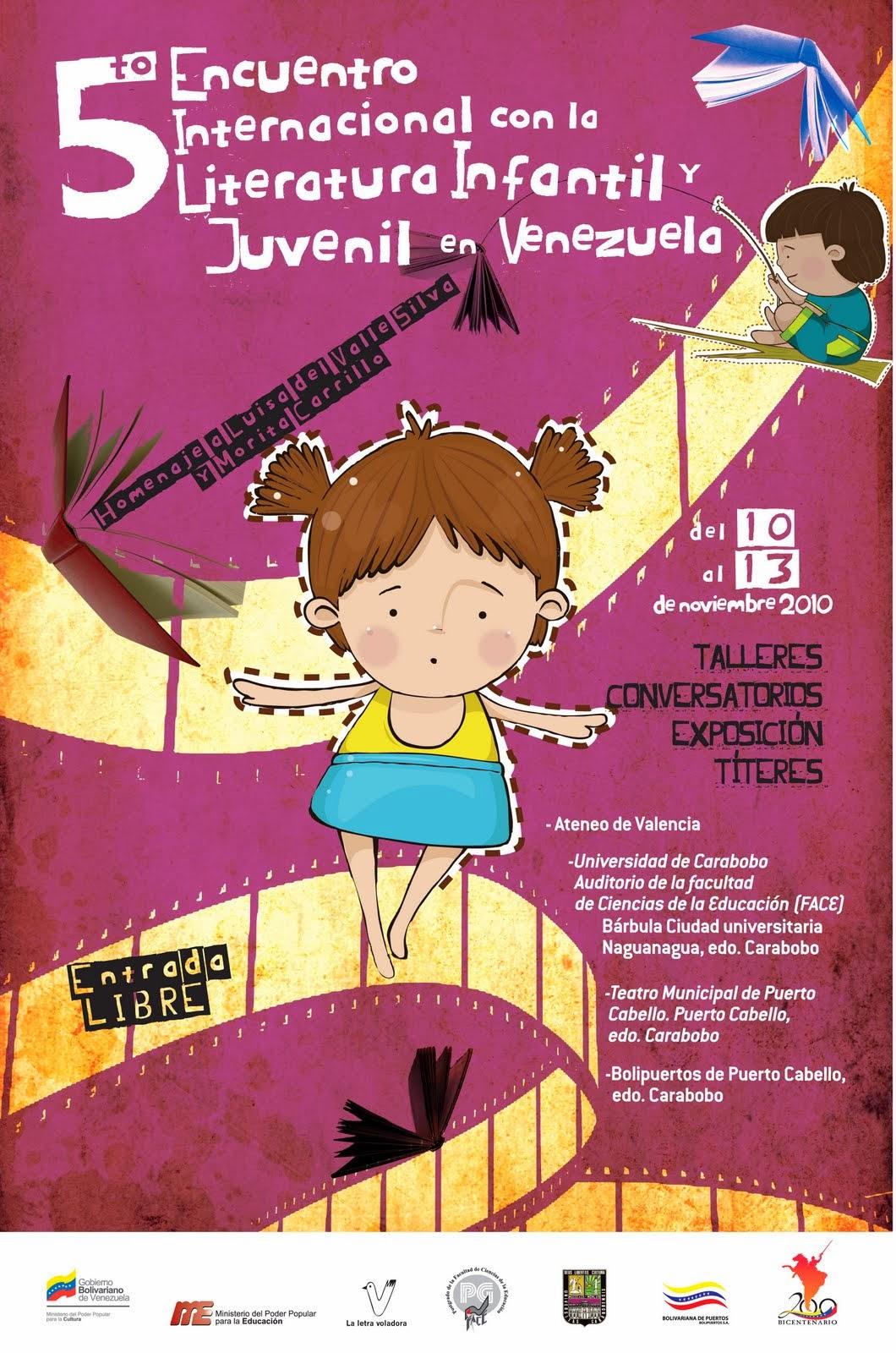 5to Encuentro Internacional con la Literatura Infantil y Juvenil en Venezuela.