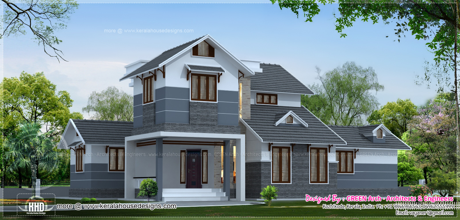 2200 sq ft villa design