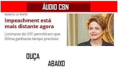 """ÁUDIO CBN -""""Temperatura baixou e Dilma vê impeachment mais distante"""" por Renata Lo Prete"""