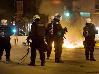 http://news.nationalpost.com/2012/05/20/fire-arrests-and-a-rolling-stone-quebec-student-protests-get-international-attention/