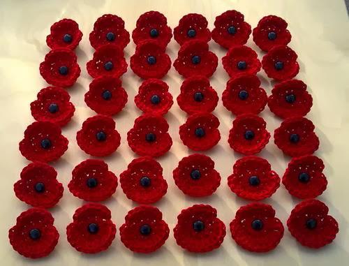 Free Crochet Pattern For Poppy Flower : EmmaAnneMade: Crocheted Poppy for Remembrance Day