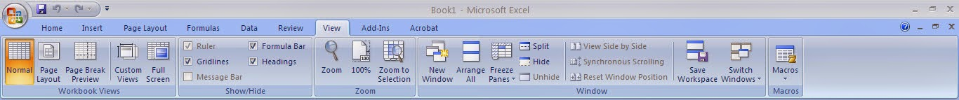 Tutorial Excel 2007 : Fungsi Menu View