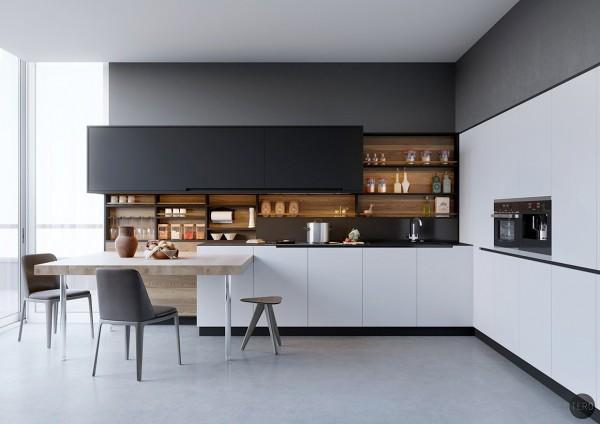 Kitchen Set Hitam Putih Yang Nampak Elegan Viku Furniture Bandung