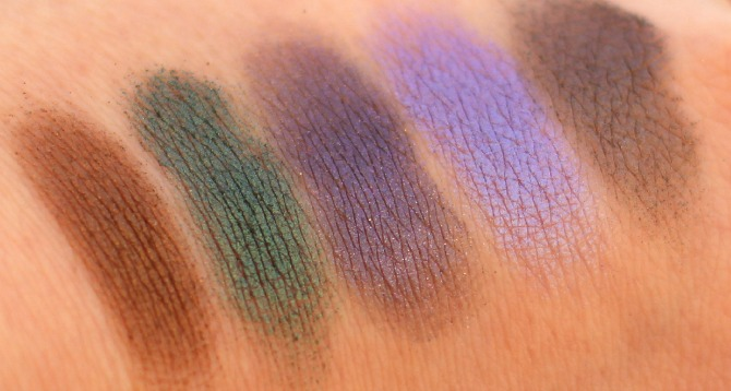 The 3rd row of the UD Vice 2 palette swatched