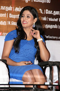 Iniya Pictures in Blue Dress at Naan Sigappu Manithan Press Meet ~ Celebs Next