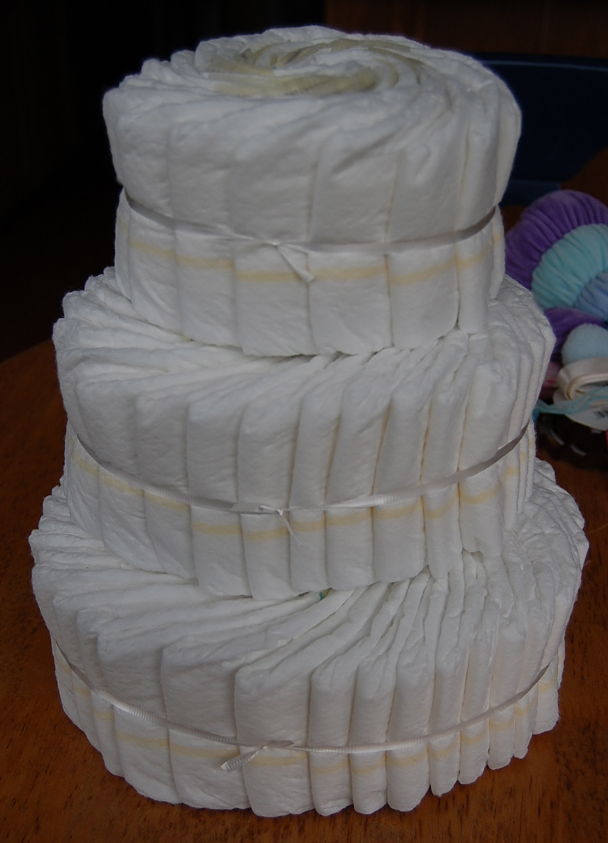 Saltbox Treasures How To Make A Baby Diaper Cake