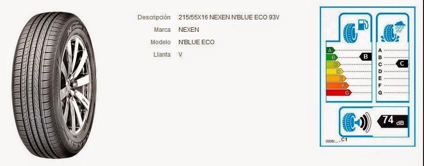 215/55X16 NEXEN N'BLUE ECO 93V