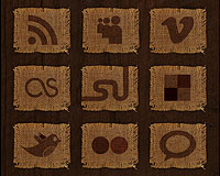 woven icons set