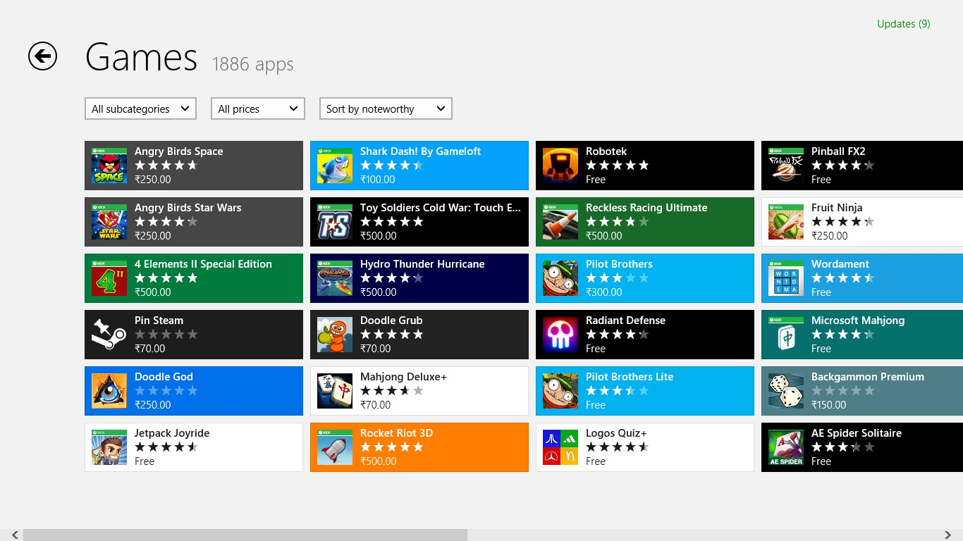 windows app games
