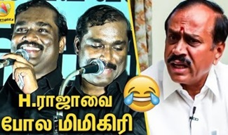 T Velmurugan Raging Speech against H Raja's