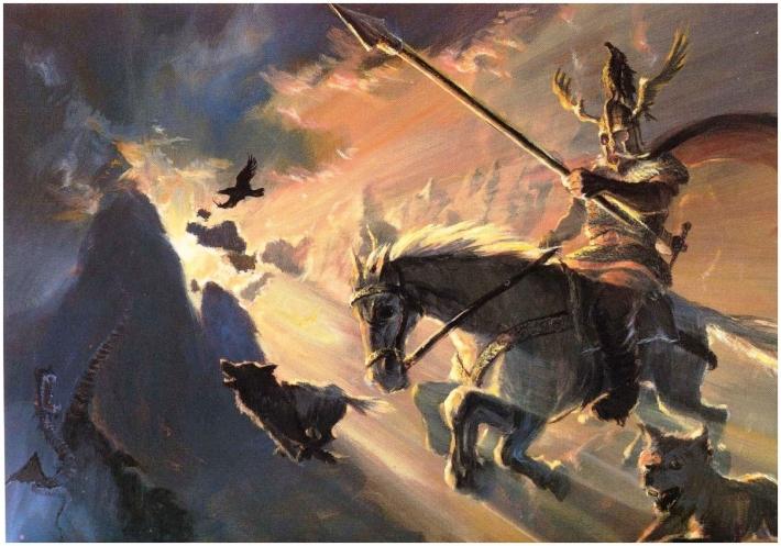 Famille egger odin et thor dieux des vikings - Dieu nordique 4 lettres ...