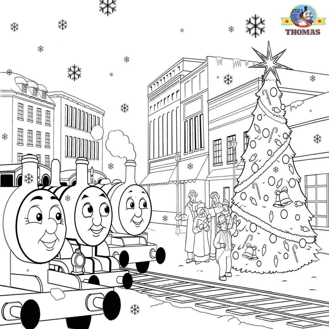 james percy the train thomas christmas coloring sheets for children printable pictures xmas clip art