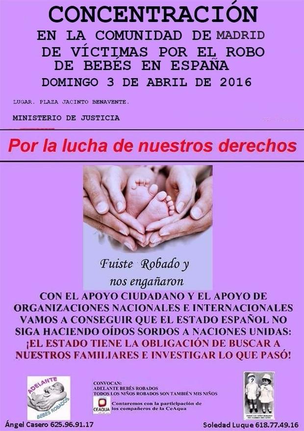 3 Abril Concentración Bebés Robados