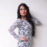 Stylish Ananya thakur in  lace embellished neckline and full sleeves dress enhance the feminine silhouette