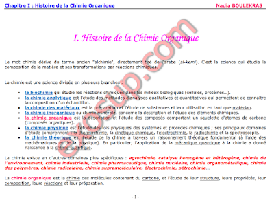 chimie organique Nadia BOULEKRAS