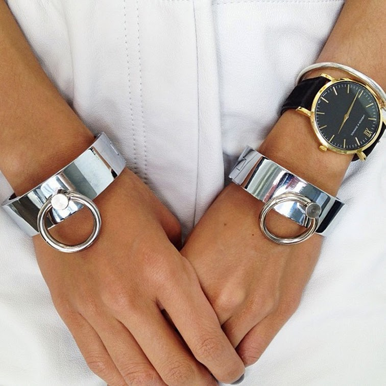 The Haute Pursuit Vanessa Hong silver cuffs